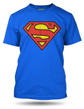 Superman logo modre