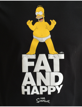 Tričko Homer Fat and Happy pánské