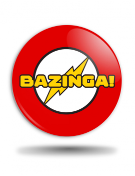 Placka Big Bang Theory Bazinga! Flash
