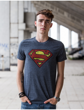 Tričko Superman distressed Washed